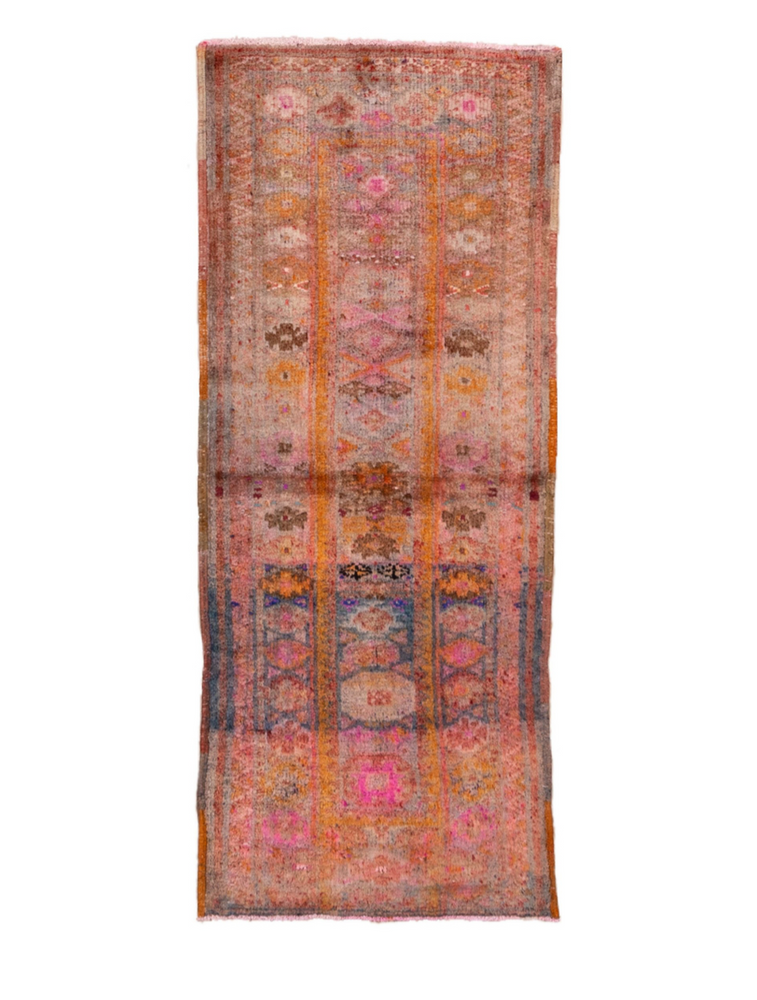 Vintage Oushak Rug - 3' x 7'