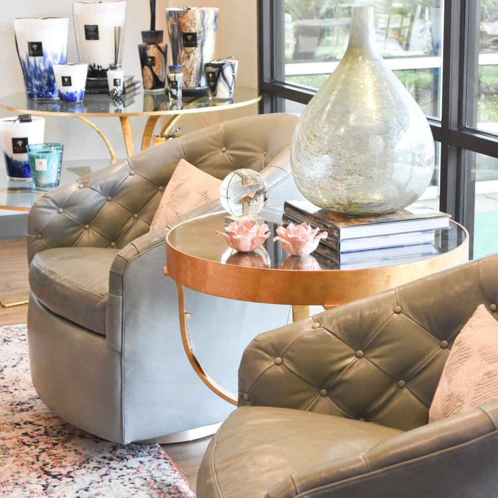 Capri Juniper Leather Swivel Chair