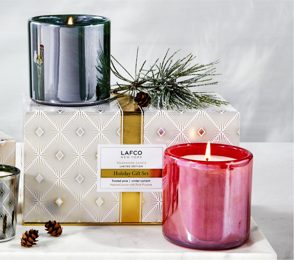 Classic Candle Set - Frosted Pine   Winter Currant