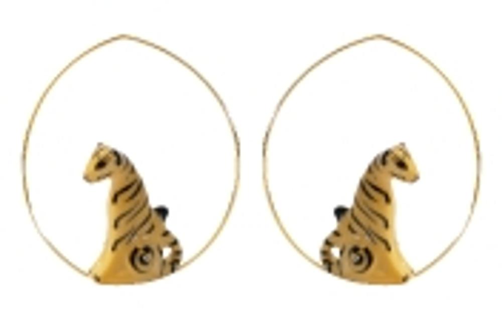 Sitting Tiger Earrings