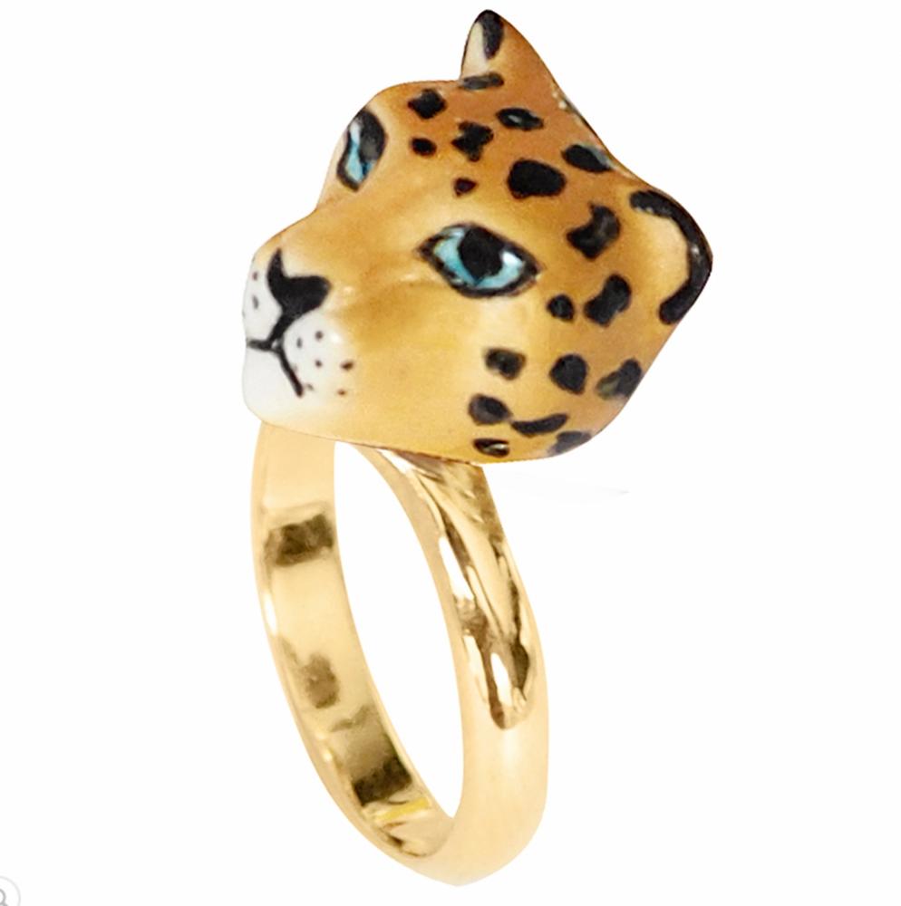 Leopard Head Ring