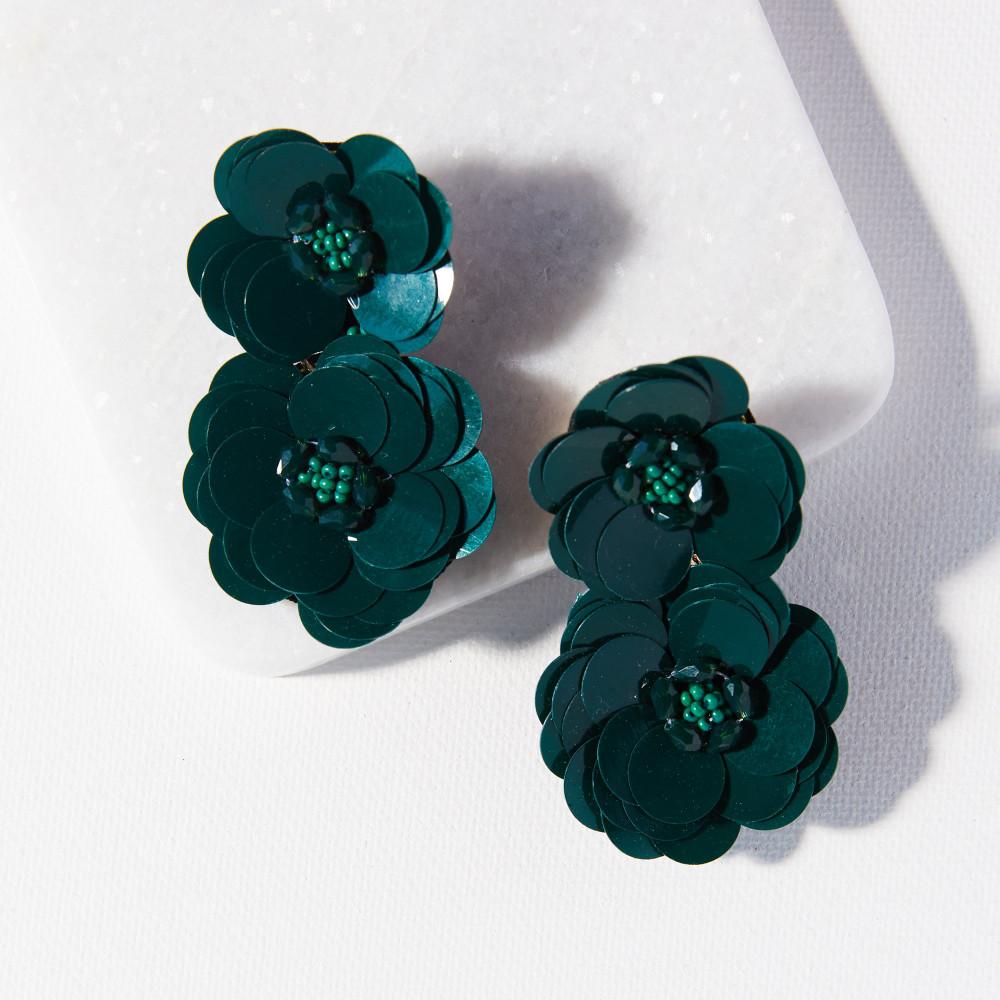 Double Flower Post Earring