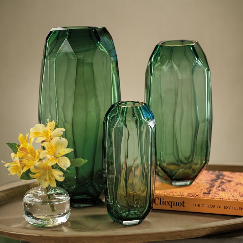 Imperial Jade Glass Vase
