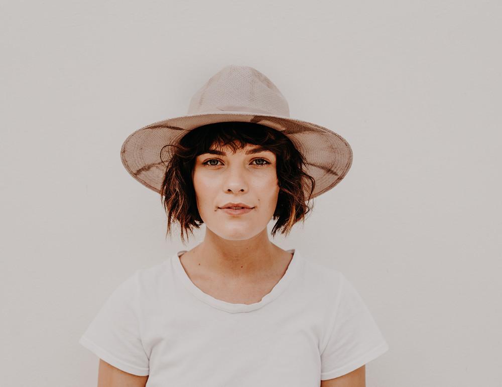 Heather Hat - S/M - Blush/Mauve