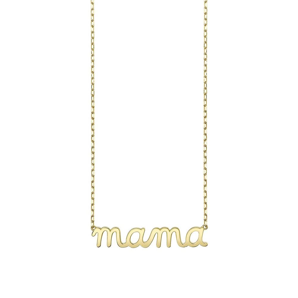 Pure Gold Script Necklace - Mama