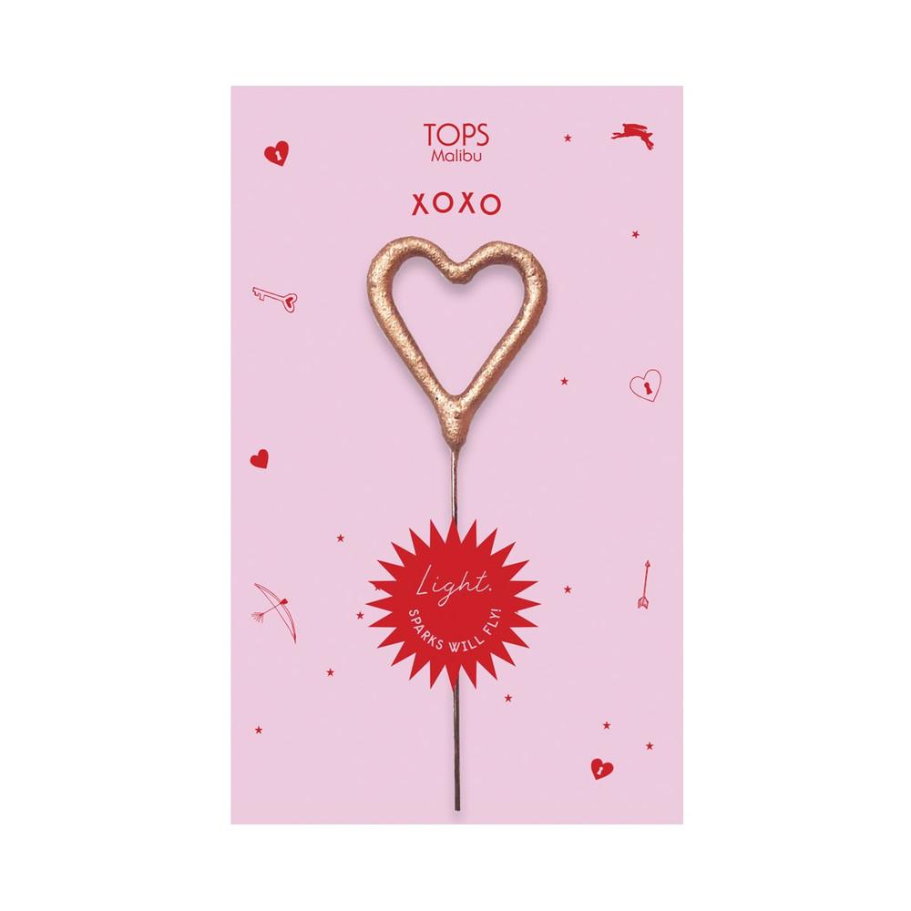 XO Heart Sparkler Card