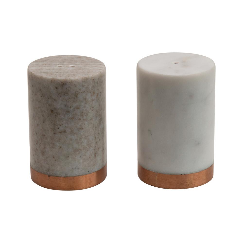 Marble Salt & Pepper Shaker with Copper Base