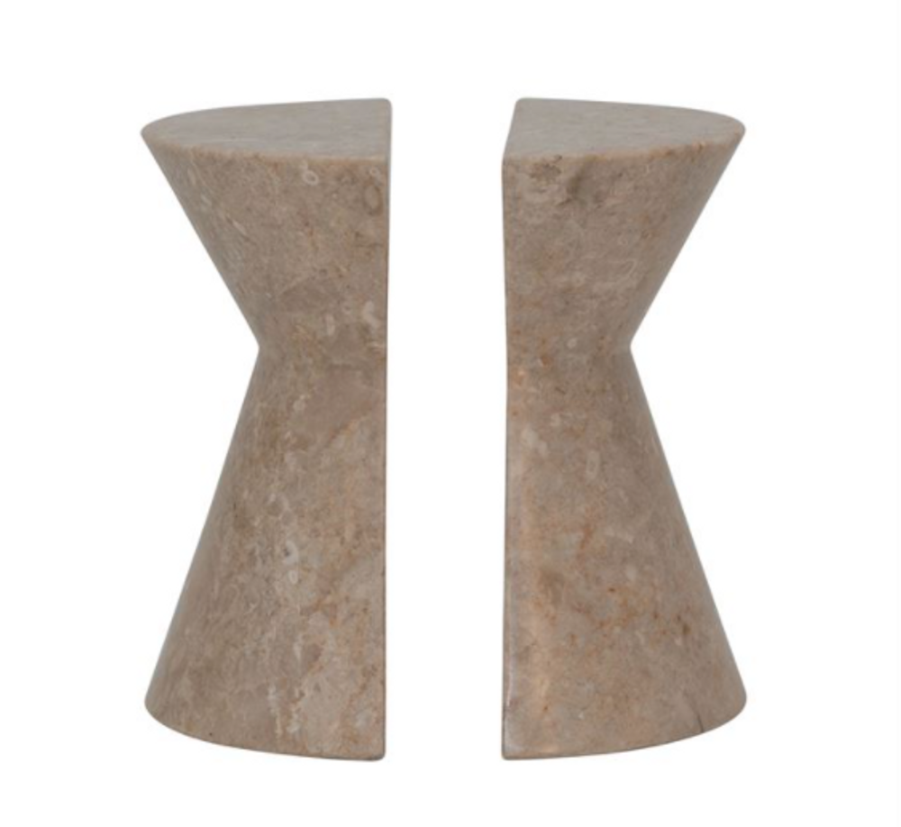 Marble Beige Bookends - Set of 2