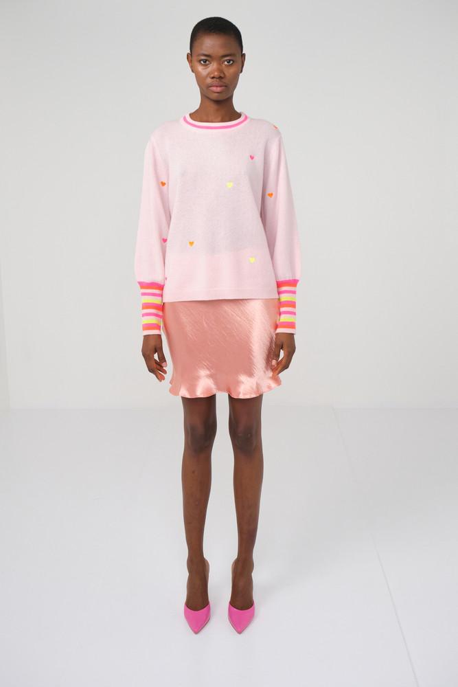 Mini Heart Cashmere Sweater
