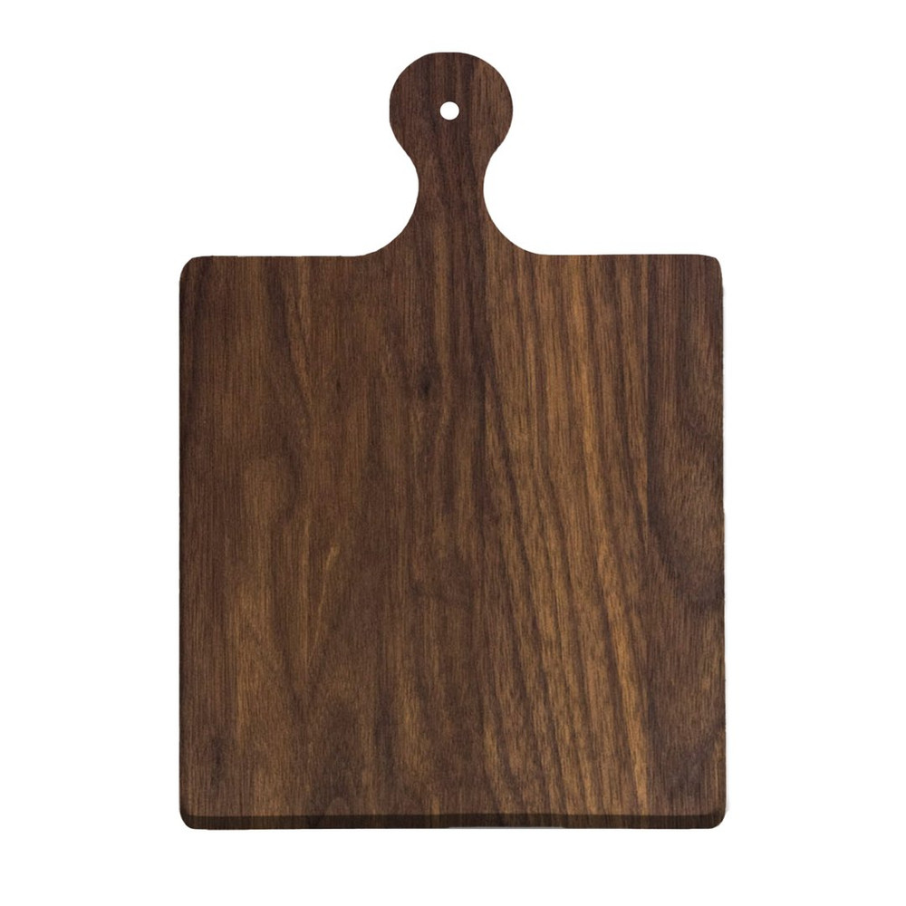 """The 9 x 6"""" Artisan Walnut Board is 100% Made in USA from Premium Black Walnut Wood. Some Variation in Color And Wood Grain Is Party Of The Natural Beauty Of Our Spectacular Boards"""