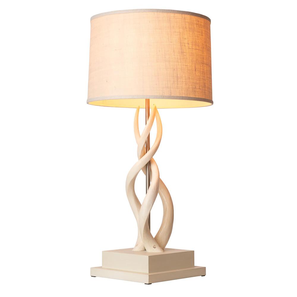Triple Kudu Lamp - Cream Base