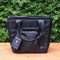 "Hosting a weekend getaway or a backyard party? The Sovaro soft-sided cooler is great for any occasion, as long as perfectly chilled drinks are required!   18""l X 10""w X 16.5""h   Weight: 4 lbs  Capacity: 4 wine bottles with removable ice container 