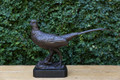 """Our 18.5"""" tall bronze pheasant statue with a marble base is a stunning finishing touch in any area of the home."""
