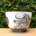 Octopus Laura Zindel Design handmade ceramic bowls are functional works of art. Each bowl is crafted from earthenware and glazed with our own hand mixed glazes and finished with Laura's signature illustrations.