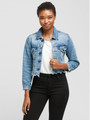 Comfortable and stylish this FashionABLE cropped jean jacket will be your go to finishing touch!