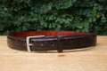 Handmade Florida alligator belt - matte hand waxed finish that will age beautifully and only improve over time. Includes nickel and brass buckle.