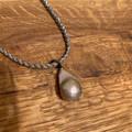 Matilda Short Metallic Necklace- Champagne Pearl
