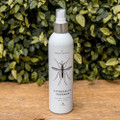 This all-natural outdoor body spray is made with citronella oil, lime, soy bean and caster oils which keeps you smelling great and keeps the bugs away. It contains no chemicals or DEET and should be applied to bare skin before heading outside. Handmade in the USA, aluminum spray bottle, 2'd x 8.5'h.