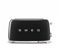 Smeg's aesthetic has become iconic, a retro 50's feel with high quality Italian  craftsmanship.  This four slice toaster will instantly elevate your kitchen counter, available in a variety of colors the stainlesss steel ball lever knob makes for easy operation. It has two extra long self-centering racks, automatic slice pop up and a removable stainless steel crumb tray. Body consists of powder coated steel, a device that is sure to last!