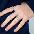 Pave Flat Bar Ring