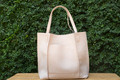 Blush  Our Shiraleah Blair Tote is a bag with great versatility and style. Elegantly made from vegan leather, the Blair tote is fun, practical, and eco-friendly.