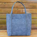 Steel  Our Shiraleah Blair Tote is a bag with great versatility and style. Elegantly made from vegan leather, the Blair tote is fun, practical, and eco-friendly.