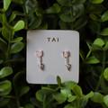 CZ Arrow Stud Earrings