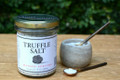 Delicious French finishing salt from Maison Pebyre and French Farm. Flavored with shaved truffles. You can sprinkle this salt on eggs, meats, pastas, risottos, vegetables, and baked potatoes. Your taste buds will have a great time figuring out the best way to use this truffle salt. 7oz