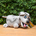 Based on the Children's books, Walter the Farting Dog doll is plush and ready to be loved. Be careful! If you squeeze him just right, he will fart!