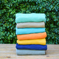 You've finally found the kitchen towel you've been searching for. The ripple towel is perfect, size, absorbent, good looking but also minimal, everything you could ever want in a dish towel. Available in array of vibrant colors to match your space perfectly, we promise you will never buy another type of dish towel after this.