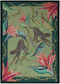 """Monkey Paradise  Made in South Africa, the Ardmore artist perfectly capture the spirit of the country. The vibrant colors and animated animals bring something lively and inspiring into your home.     - 19.5"""" X 27.5""""   - 100% Cotton   - Made in South Africa"""