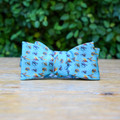 Created by one man's passion to paint what made him happy these Ringneck and Lure bow ties are sure to brighten your day. The original artwork on these adjustable self-tie bows is printed on 100% silk in Italy, giving you a touch of whimsy, a touch of elegance, and a whole lot of joy.