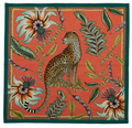 Leopard - Coral   The perfect accent to any place setting! The ardmore napkins feature vibrant and whimsical depictions of the natural life in South Africa.
