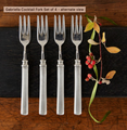 A sweet pewter fork perfect for hors d' oeuvres, shellfish, or cheeseboards! Made in the classic Match Pewter style this will be a serving piece you'll pass down for generations.