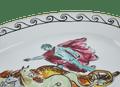 Neptune's Voyage Oval Platter - Chariot White