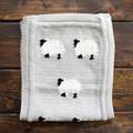 Cotton Knit Burp Cloth w. Animal