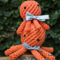 Durable, recyclable, non-toxic and adorable!These rope dog toys are ready to be tugged, chewed, tossed, and loved. They are hand tied and dyes using non-toxic vegetable dyes and act as doggie dental floss as your pup begins chewing.   Machine washable