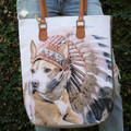 We XO our adorable pit bull tote by Regina Andrews.