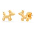 Balloon Dog Studs - Gold