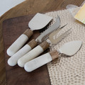 For your next wine and cheese party, let this 4-piece cheese tool set take care of everything!