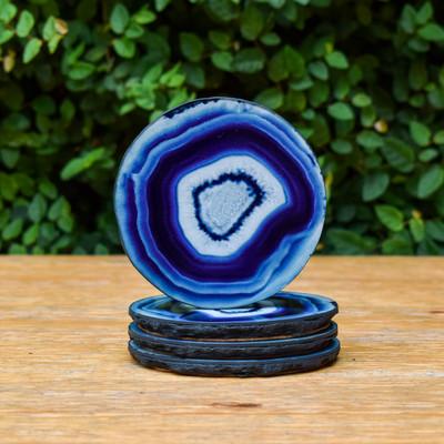 Faux Agate Coasters - Azul (S/4)