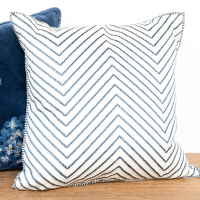 The Yves Delorme cavalcade decorative pillow is the perfect way to brighten up your living room sofa, armchair, or bedroom.