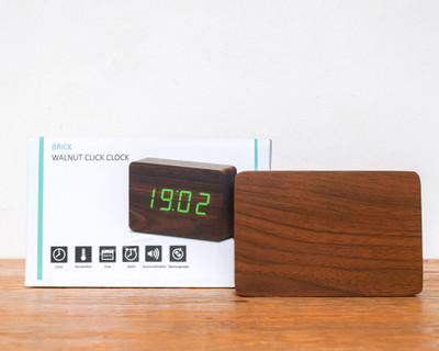 Click Clock - Walnut