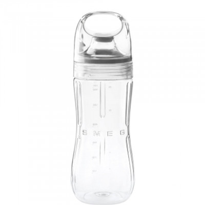 50's Retro Style Bottle to go blends fruits, ice cream and yoghurt to get thick smoothies, blended drinks and milkshakes. Add protein powder for energetic shakes. Four speeds available from 1-4 to reach maximum blending speed. BPA-free TritanTM bottle cover with detachable grey silicon seal for easy cleaning
