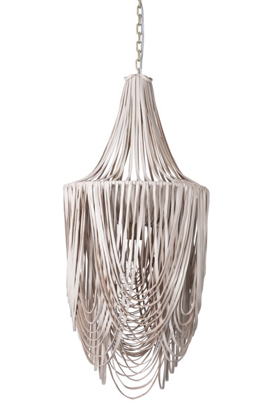 Long Whisper Chandelier - Small - Cream