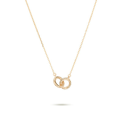 Pave Interlocking Loop Necklace