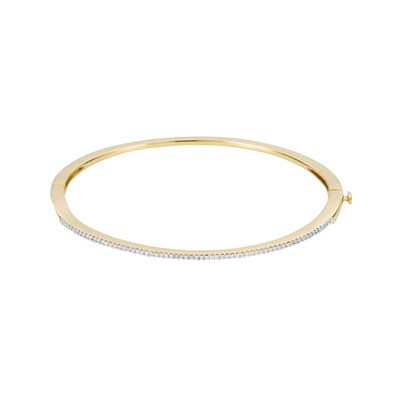 Pave Oval Bangle