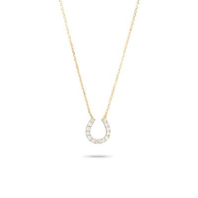 Pave Horseshoe Necklace - Y14