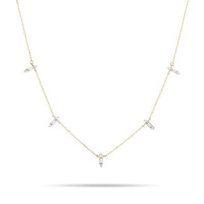 Stack Baguette Chain Necklace - Y14