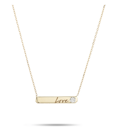 Love Diamond Bar Necklace - Y14